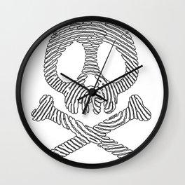 Skull fingerprint Wall Clock