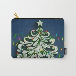Christmas tree with colorful lights Carry-All Pouch