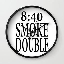 8:40 Smoke Double Wall Clock