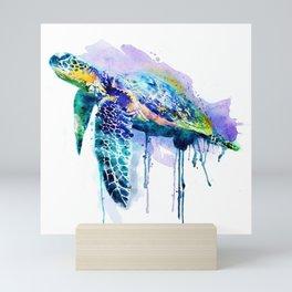 Watercolor Sea Turtle Mini Art Print