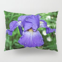 Cool blue-violet Iris 'Sea Master' Pillow Sham