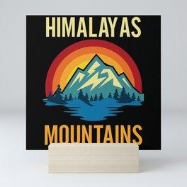 Himalayas Mountains Sunset Mini Art Print