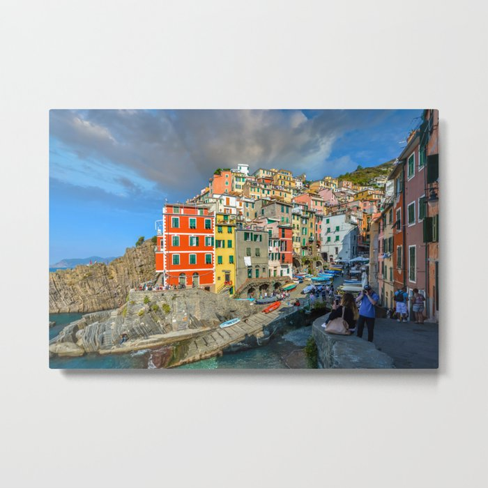 Cinque Terre, Italy (Houses On The Cliff) Metal Print By