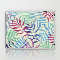 Watercolor Tropical Palm Leaves Laptop & iPad Skin