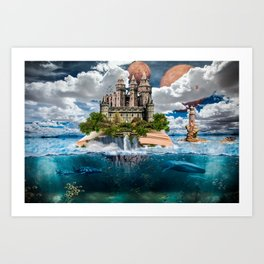 Book Castle Art Print