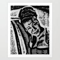 fitzgerald Art Prints featuring Ella Fitzgerald by BFly Designs by Tanysha B.