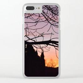 Rainbow Sunset Clear iPhone Case