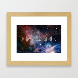 Cosmic Celestial Cycle Framed Art Print