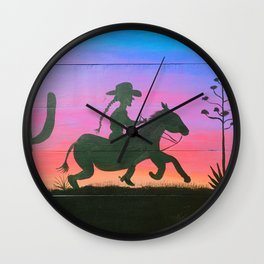 Desert Pony Wall Clock
