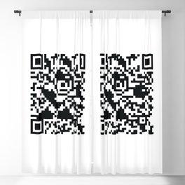 Mega Man QR Code 8-Bit Art Blackout Curtain