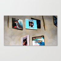 records Canvas Prints featuring Records by Donna Newsom of KarmaKazi Design