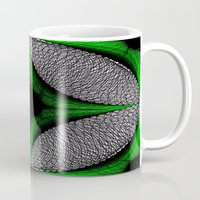 gem Mugs featuring Green Gem by Sartoris ART
