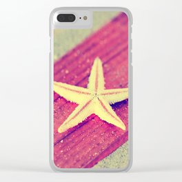 Stars and Stripes on the beach Clear iPhone Case