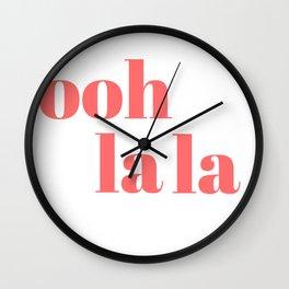 ooh la la V Wall Clock