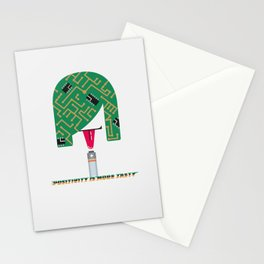 Digital Girl : Positivity is more tasty Stationery Cards