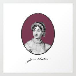 Authors - Jane Austen Art Print