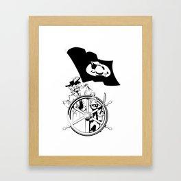 Cap'n at the helm Framed Art Print
