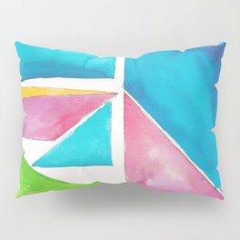 180811 Watercolor Block Swatches 1| Colorful Abstract |Geometrical Art Pillow Sham