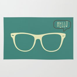 Hello Eyeglasses #1 Rug