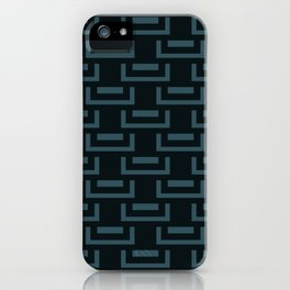 Livid Blue Charcoal Mid-Century Geometry iPhone Case