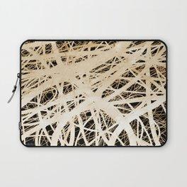 Neurons abstract art by Ann Powell Laptop Sleeve