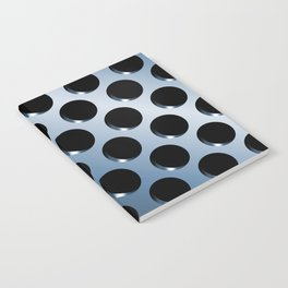 Cool Steel Graphic Art Like Polka Dots Notebook