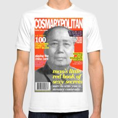 COSMARXPOLITAN, Issue 9 MEDIUM White Mens Fitted Tee