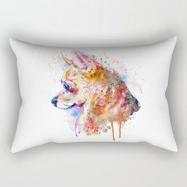 Watercolor Chihuahua Rectangular Pillow
