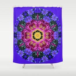 Floral finery - vivid kaleidoscope 20170321_135334 e k1 Shower Curtain