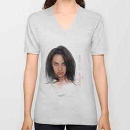 Aaliyah Unisex V-Neck