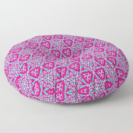Bubble Gum Pink and Turquoise Cowgirl Arrowhead Paper Airplane Southwestern Design Pattern Floor Pillow