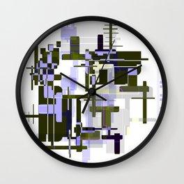 Abstract Seaweed Purple Design Wall Clock