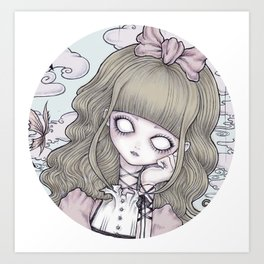 Creepy Little Alice Art Print