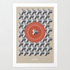 Geometria | Orange Art Print
