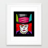 mad hatter Framed Art Prints featuring Mad Hatter by Artistic Dyslexia