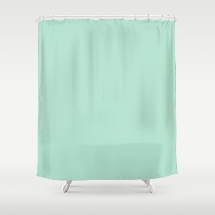 Mint Shower Curtain By Lorihinner