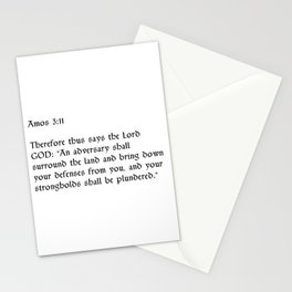 Amos 3:11 Stationery Cards
