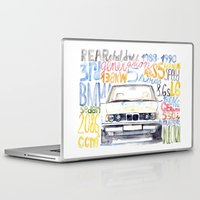 bmw Laptop & iPad Skins featuring BMW e36 by dareba