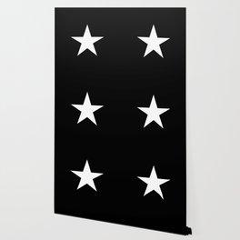 White star on black background Wallpaper