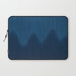 Wavy Digital Denim Blue Jean Pattern Laptop Sleeve