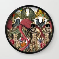 planet Wall Clocks featuring PLANET by MANDIATO ART & T-SHIRTS