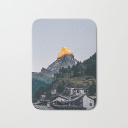 Beautiful Matterhorn in Sunrise Bath Mat