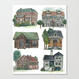 Norwegian Houses Canvas Print