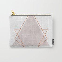 BLUSH COPPER ROSE GOLD GEOMETRIC SYNDROME Carry-All Pouch