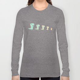 Evolution of a Chicken Long Sleeve T-shirt