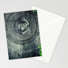 Super Mario Memorial Stone - Bros Before Hoes Stationery Cards