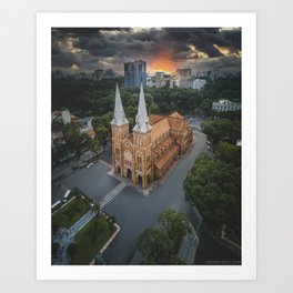 Notre-Dame Cathedral Basilica of Saigon Art Print