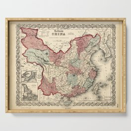 Colton's Map of China (1863) Serving Tray