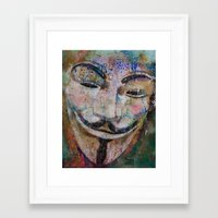 anonymous Framed Art Prints featuring Anonymous by Michael Creese
