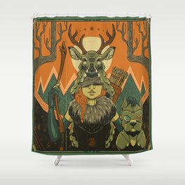 The Archer and The Hound Shower Curtain
